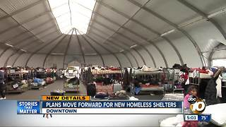 Plans move forward for new homeless shelters - Video