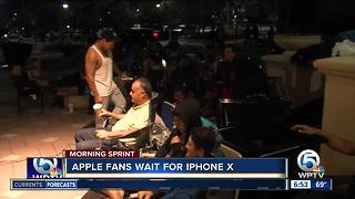 Waiting in line for iPhone X - Video