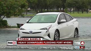 Heavy downpours flooding fort myers - Video