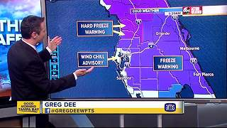 Freeze Warnings issued for Tampa Bay - Video