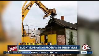 Blight elimination program removes homes in Shelbyville