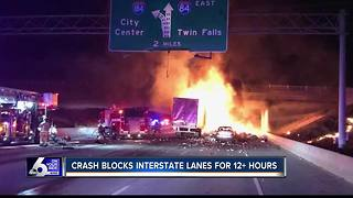 UPDATE: EB I-84 reopens after fiery crash