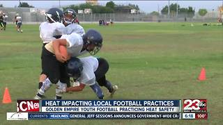 Local football practices cancelled due to local weather - Video