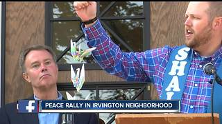 Indy Mayor speaks at Peace Rally in Irvington neighborhood about gun violence in the city - Video