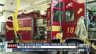 Families happy to have neighborhood fire station reopen after nearly eight years - Video