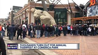 Fans flock to Comerica Park for TigerFest - Video