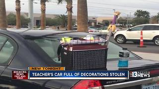 Teachers car, school supplies stolen days before school starts - Video