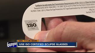Inadequate solar eclipse glasses could leave you blindside - Video