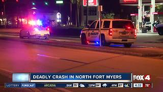 One dead in North Fort Myers crash Sunday night - Video