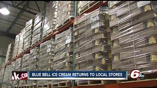 Blue Bell Ice Cream back in Indiana - Video