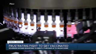 Frustrating fight to get vaccinated in Michigan