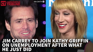 Jim Carrey to Join Kathy Griffin on Unemployment After What He Just Did - Video