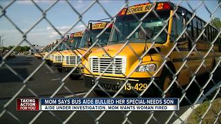 Mother: Bus aide threatened to beat up her special needs son, called him an idiot, brat - Video