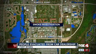 Fort Myers Honda Dealership Evacuated - Video