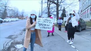 Protesters call podcast studio racist, demand it be removed from cultural center