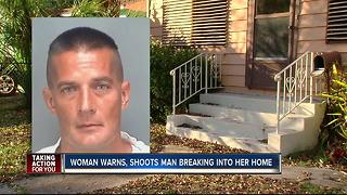 St. Pete woman shoots man climbing in window - Video