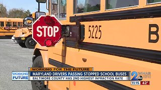 Maryland drivers passing stopped school buses