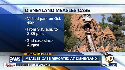Public warned after measles-infected person visits Disneyland