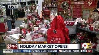 Holiday shopping underway: Holiday Market opens today