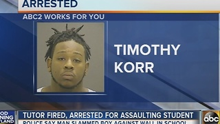 Tutor fired, arrested after 7-year-old assaulted inside Baltimore school - Video