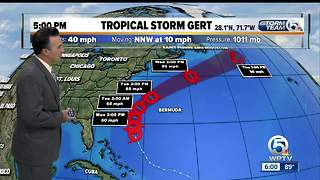 Tropical Storm Gert forms in the Atlantic