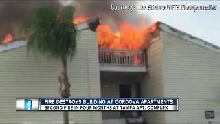 Firefighters battle blaze for a second time at the same apartment community - Video