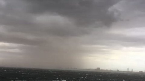 Howling Winds Whip Up Dust Storm in Melbourne