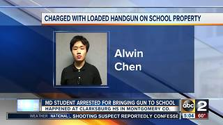 Student charged with bringing loaded gun, knife to Montgomery Co. school - Video
