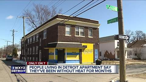 Detroit responds to WXYZ report on apartment residents without heat