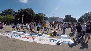 Protesters Rally for DACA With Dance Routine Outside White House - Video