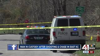 Shooting suspect in custody after police chase in KCMO - Video