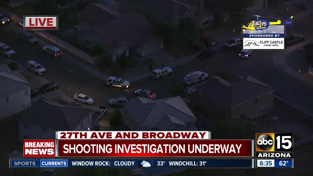 Shooting near 27th Avenue and Broadway Road