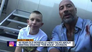 Local hero meets The Rock on his new movie set in Vancouver Canada - Video