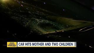 Mother, kids hit by car not from Tampa area