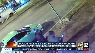 Police release suspect video in musician murder