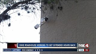 Dixie Roadhouse working to get extended hours back