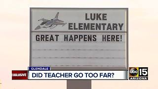 Mom claims Glendale teacher put rowdy students outside as punishment - Video