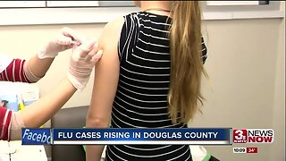 Flu cases rising in Douglas County