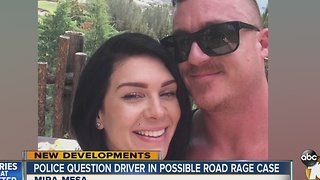 Police question driver in possible road rage case - Video