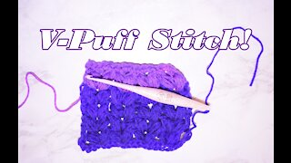 How to Crochet the V Puff Stitch
