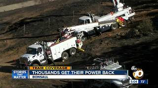 Thousands Get Their Power Back in Bonsall - Video