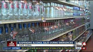 Banning alcohol sales during emergencies, considered - Video