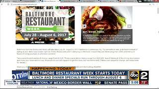 Baltimore Summer Restaurant Week - Video