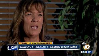 Attack claim at Carlsbad luxury resort