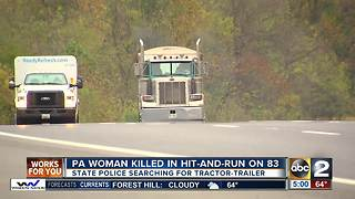 Woman hit, dragged in deadly tractor-trailer hit-and-run on I-83 - Video