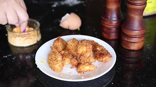 Deep fried hard boiled eggs - Video