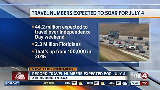 Fourth of July weekend travelers expect to hit record levels - Video