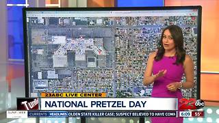 Free snacks for National Pretzel Day - Video