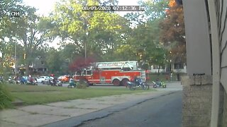 Large group of dirt bikes, ATVs, motorcycles take over Cleveland streets
