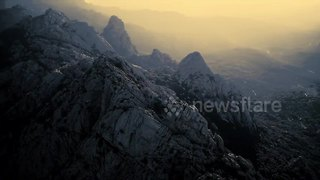 Stunning aerial views of Sardegna in winter - Video